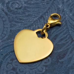 Heart Charm Gold